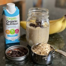 Banana Chocolate Chip Overnight Oats