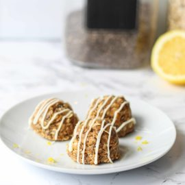 Healthy Lemon Protein Bites