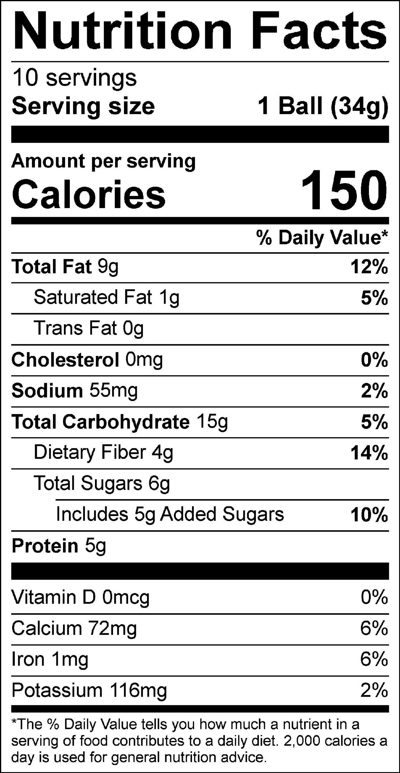 Healthy Lemon Protein Bites Label 9.2